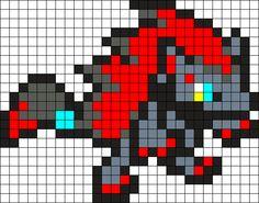 Zoroark Sprite Perler Bead Pattern / Bead Sprite