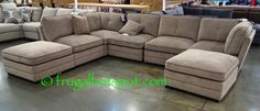 It's easy to rearrange your furniture with this contemporary modular set. Costco has the Bainbridge Modular Fabric Sectional in stock for a limited time. Fabric Sectional, Sectional Sofas, Costco Furniture, Outdoor Furniture, Indoor Outdoor Living, Home Reno, Home Living Room, Home Improvement