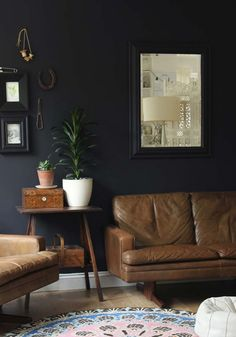 51 living room interior ideas - black colour trend