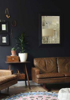51 living room interior ideas - black colour trend