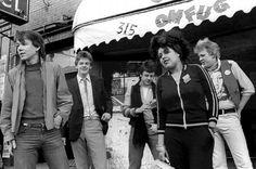 X-RAY SPEX outside CBGB's March 1978