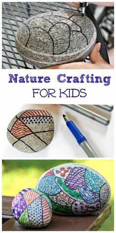 All you need is a rock and some markers for a beautiful & relaxing craft project with the kids! Nature art