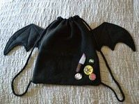 How to make a backpack. Drawstring Batpack