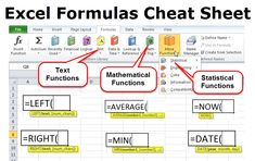 Guide to cheat sheet of Excel Formulas. Here we are going to discuss the Different Excel Formulas with respective examples with detailed explanation. Computer Basics, Computer Help, Computer Programming, Computer Tips, Excel Cheat Sheet, Cheat Sheets, Microsoft Excel, Microsoft Office, Excel For Beginners