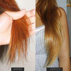 Tratamento de choque caseiro para cabelos danificados Curly Hair Styles, Natural Hair Styles, Let Your Hair Down, Fancy Hairstyles, Tips Belleza, Beauty Recipe, How To Make Hair, Hair Health, Ombre Hair