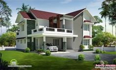 roof 4 bedroom villa design wallpaper