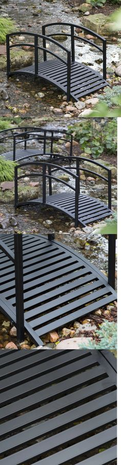 Bridges 115773: Metal Garden Bridge 8 Foot Steel Black Backyard Pond Stream  Patio Decor Walkway  U003e BUY IT NOW ONLY: $349.99 On EBay! | Pinterest |  Bridges