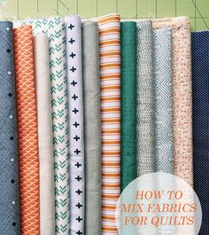 mixing patterned fabrics for quilts