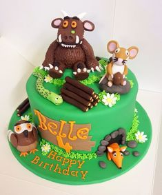 Grufallo Themed First Birthday Cakes - Gruffalo First Birthday Party Ideas - first birthday cake-Erster Geburtstagskuchen Toddler Birthday Cakes, Boys First Birthday Cake, Dinosaur Birthday Cakes, 4th Birthday Cakes, Birthday Ideas, Gruffalo Party, Friends Cake, Occasion Cakes, Girl Cakes