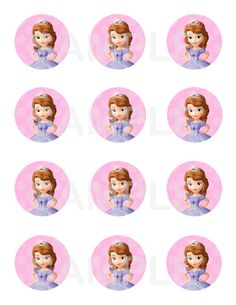 Sofia the First Cupcake Toppers 2 Birthday Party  by PinkieForPink, $3.00