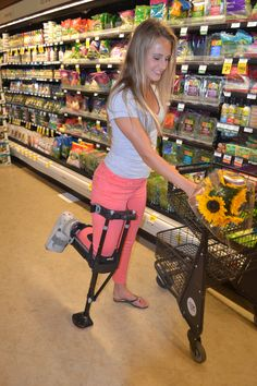 Did you know you can do all your daily activities while wearing the iWalk? Groceries, childcare and mowing the lawn are all possible when you're using the iWalk. Bunion Surgery, Ankle Surgery, Handicap Accessible Home, Braces Girls, Broken Foot, Custom Sport Bikes, Compression Stockings, Surgery Recovery, Crutches