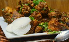 Chettinad Chicken Masala or Chetiinad Chicken Roast is a spicy chicken dish from South India. All the spices will be freshly grounded for this recipe which