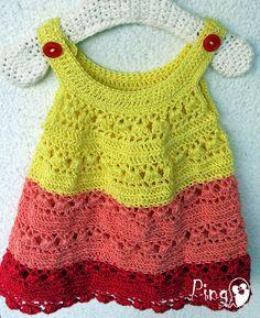 Crochet Summer Dress by Pingo - The Pink Penguin