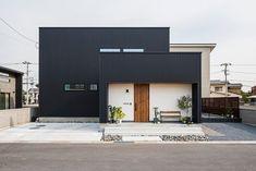 Minimalist Architecture, Facade Architecture, Cool House Designs, Modern House Design, Facade Design, Exterior Design, Modern Entrance Door, Box Houses, Dream Home Design