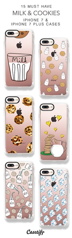 15 Must Have Milk And Cookies Protective iPhone 7 Cases and iPhone 7 Plus Cases. More Sweet iPhone case here > https://www.casetify.com/collections/top_100_designs#/?vc=UojOkMEkka