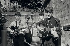 """#TheBeatles in #AbbeyRoadStudios recording their first album """"Please Please Me"""" - Terry O' Neill, 1963"""
