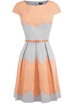 Pretty pastel dress.love the grey