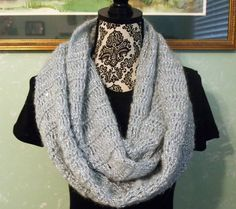 A personal favorite from my Etsy shop https://www.etsy.com/listing/465943614/grey-and-silver-sequin-infinity-scarf