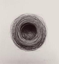 "Jonathan Delafield Cook's drawing""Bird's Nest"