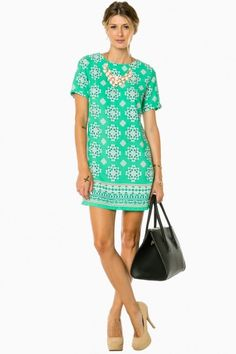 Faline sheath dress in mint