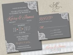 Wedding Invitations Invites Announcements by SAEdesignstudio