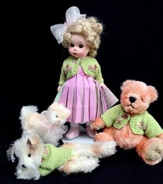 "Madame Alexander 8"" Doll The Four Of Us Wendy Bear Cat Dog 2003 37215 #MadameAlexander #12080 #DollswithClothingAccessories Madame Alexander Dolls, Novelty Items, Bears, Plush, Teddy Bear, Cat, Toys, Activity Toys, Cat Breeds"