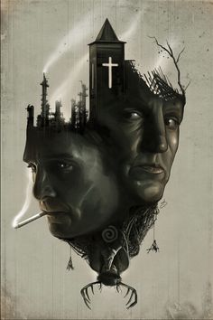 True Detective by David Seidman, via Behance #true #detective #truedetective #illustration #hbo