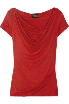 Vivienne Westwood Anglomania  Donna draped stretch-jersey top  $195