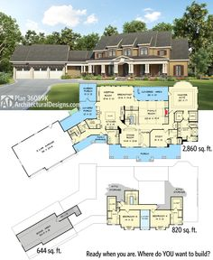 Architectural Designs 4 Bed House Plan 36059DK. Over 3,100 sq. ft. plus bonus expansion over the garage. Ready when you are. Where do YOU want to build?