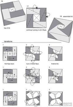 风车礼盒折纸教程