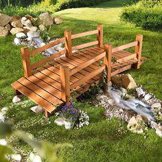 Holz Gartenbrücke Moreno
