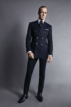 Striped suit , perfect style