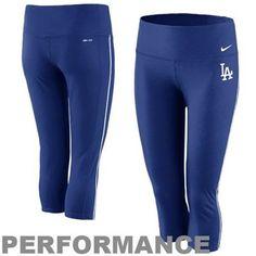 Nike L.A. Dodgers Ladies Performance Capri Pants - Royal Blue