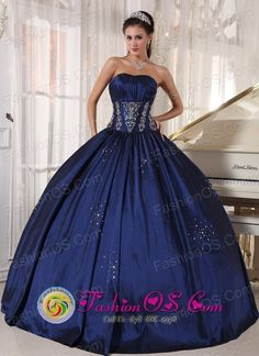 2013 Comayagua Honduras Navy blue Quinceanera Dress Embroidery and ...