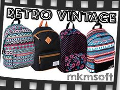 Plecak młodzieżowy szkolny miejski Vintage RETRO
