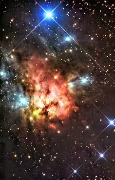 #Trifid of the North.. Colorful #NGC1579 resembles the better known #TrifidNebula, but lies much farther north in planet Earth's sky, in the heroic #constellationPerseus. About 2,100 light-years away and 3 light-years across, #NGC1579 is a captivating study in color.