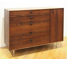 """George Nelson Rosewood """"Thin Edge"""" 5245 Cabinet - 2"""