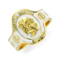 An Enamel and Gold Cigar Band Ring, by Cartier, circa 1965