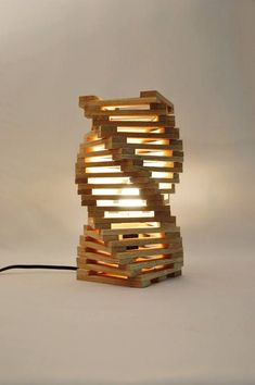Lámpara de mesa de diseño en madera de roble lámpara de