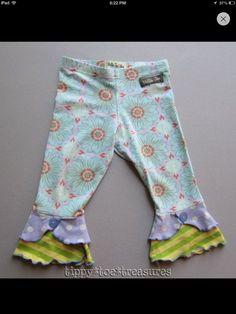 Matilda Jane Waterway leggings, size 6 SOLD