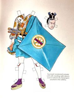Kabuki Costumes Paper Dolls by Ming-Ju Sun - Dover Publications, Inc., 1995: Pate 7 (of 16)
