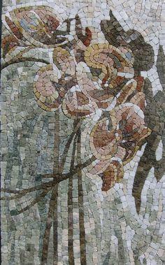 """""""Orchidées"""" 95x54cm. marbre, granit"""