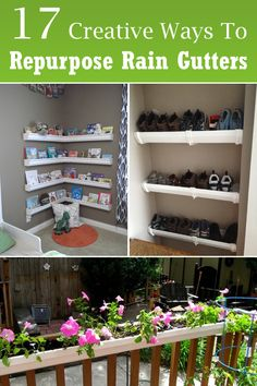 Old rain gutters can be reused and repurposed into many creative and ingenious DIY projects for your garden and home.