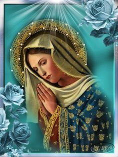 horizontal art depicting Our Blessed Virgin Mother - Bing images Religious Pictures, Religious Icons, Religious Art, Blessed Mother Mary, Blessed Virgin Mary, Happy Mothers, Hail Holy Queen, Prayers To Mary, Queen Of Heaven