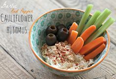 Before I was a paleo chick, one of my favorite healthy snacks was hummus and veggies. Unfortunately, traditional hummus is made from chickpeas, and chickpeas are legumes – which are a no-go in the paleo world.  After doing a little research, I learned that you could make hummus from – cauliflower! And PS – it tastes so much like the chickpea version you will totally fool your friends! I played around in the kitchen until I created a recipe that I love! It's easy to get creative with this…