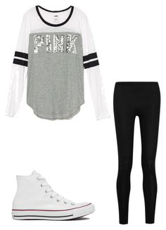 """""""Untitled #40"""" by averykrolczyk on Polyvore featuring Donna Karan and Converse"""