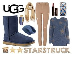 """""""Starstruck"""" by englinsfinefootwear ❤ liked on Polyvore featuring Valentino, UGG Australia, Miss Selfridge, Unpaired, Casetify, Halogen, Jennifer Meyer Jewelry, The Merchant Of Venice and Burberry"""