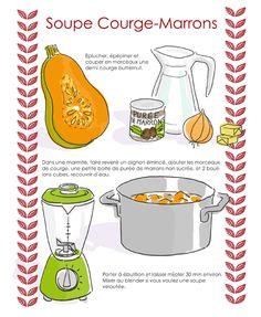 Soupe Courge Marrons, tellement belles les recettes de Tambouille !