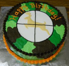 Deer hunter cake - might have to be Kyle's next birthday cake :)