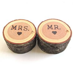 Wedding Ring Bearer Box Mr and Mrs by EndGrainWoodShoppe on Etsy, $50.00